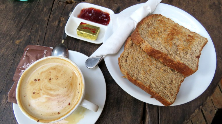 Coffee with toast, Art Cafe