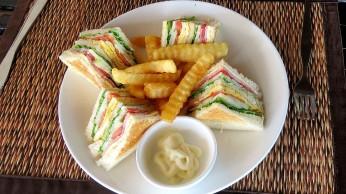 Ham and cheese sandwich, Sea Garden Restaurant