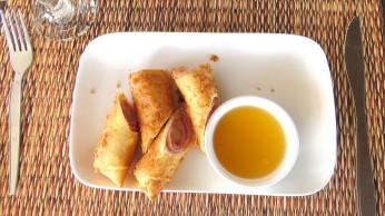 Spring roll ham and cheese, Sea Garden Restaurant