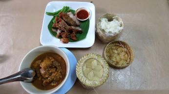 Porco frito e com curry, Huen Phen Restaurant