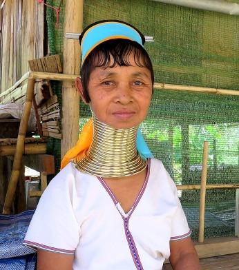 Long neck woman