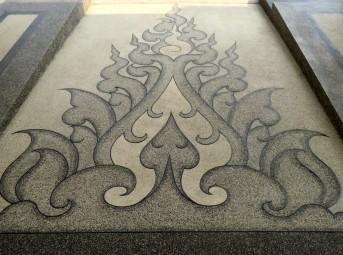 White temple, chão com desenhos