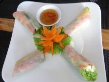Fresh spring roll, muito mais leve e sem fritura