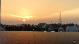 Da janela, víamos o pôr do sol