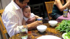 A família sempre nos acompanhava nos jantares