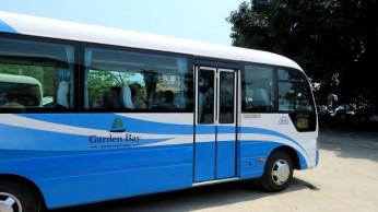 O ônibus da agência que nos pegou no hotel