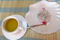 Dragon fruit e chá