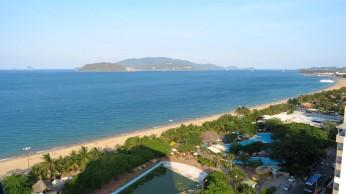 A grande praia principal