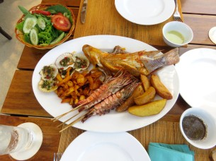 Mix de frutos do mar (Sandals restaurant)