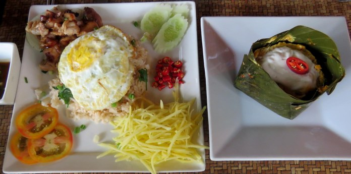 Peixe Amok, delicioso, com creme de leite de coco (Palate restaurant)