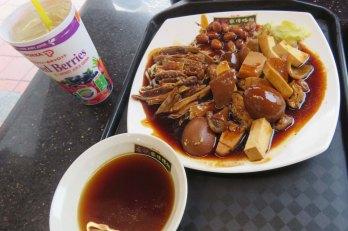 Comida de um restaurante chinês que não conseguimos decifrar (nem apreciar)