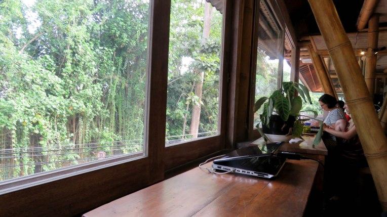 Balcão com vista para a floresta dos macacos