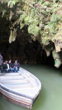Saída da caverna: infelizmente, era proibido fotografar lá dentro