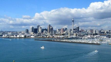 Auckland a partir da ponte