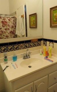 Banheiro do quarto que alugamos