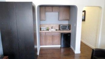Cozinha pequena no quarto