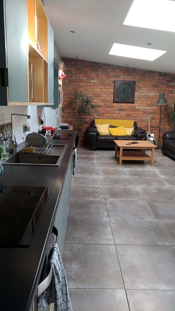 Cozinha e sala compartilhada